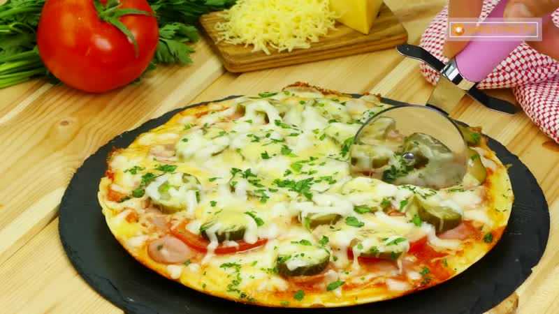 Немного фантазии и простое блюдо превратится в чудо Аппетитная пицца за 5 минут