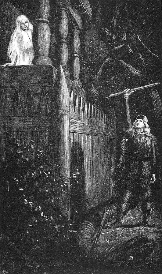 Иллюстрация шведской художницы Дженни Нюстрем 1895 год.