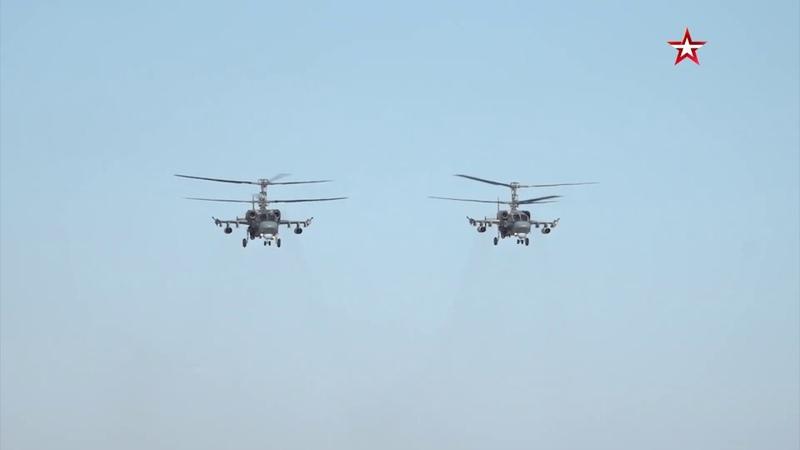 Уникальные тренировочные полеты Ка-52 «Аллигатор»