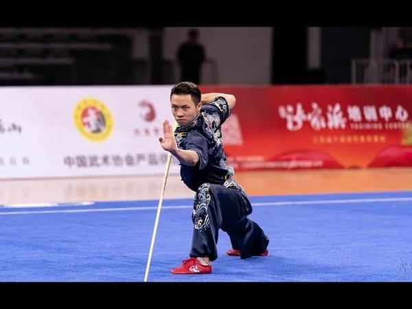 Men's Gunshu 男子棍术 第1名 江苏队 吴照华 9.84分 2019年全国武术套路锦标赛(男子赛区)wushu