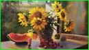 Видео урок по живописи маслом Подсолнухи (полная версия) 79857776200