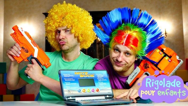 Vidéo drôle pour enfants Clowns avec nerfs Le courrier malveillant