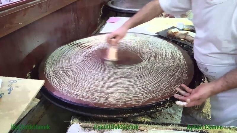 Kadayıf Hamurunun Pişirilişi - Gaziantep
