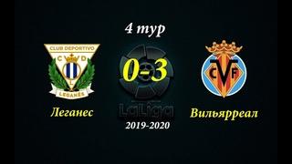 Без шансов! Леганес - Вильярреал 0-3 Обзор матча Ла Лига 4 тур  HD