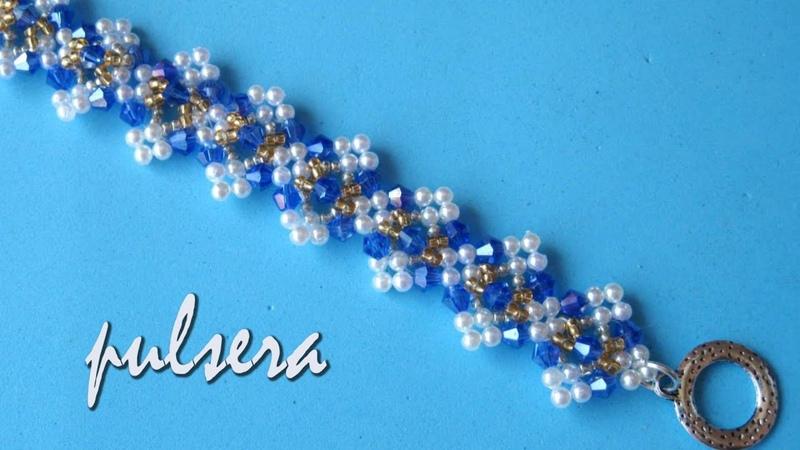 DIY Pulsera tupis y perlas DIY Tupis and pearl bracelet