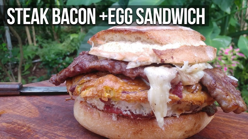Steak Bacon and Egg Sandwich recipe by the BBQ Pit Boys