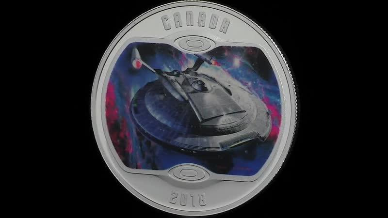 Серебряная монета Звёздный путь Энтерпрайз NX 01