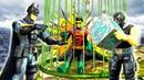 Супергерои Бэтмен и Робин на острове Бэйна Видео с игрушками