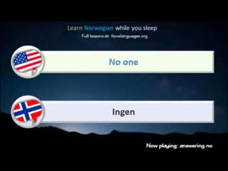 Learn Norwegian while you sleep. 5 hours. 1000 Basic Words and Phrases