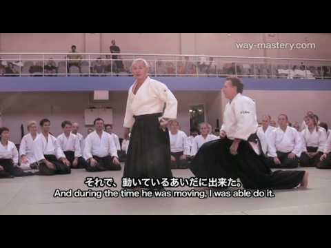 Ushiro ryote dori Paris 2009 Seishiro Endo Shihan 遠藤征四郎師範