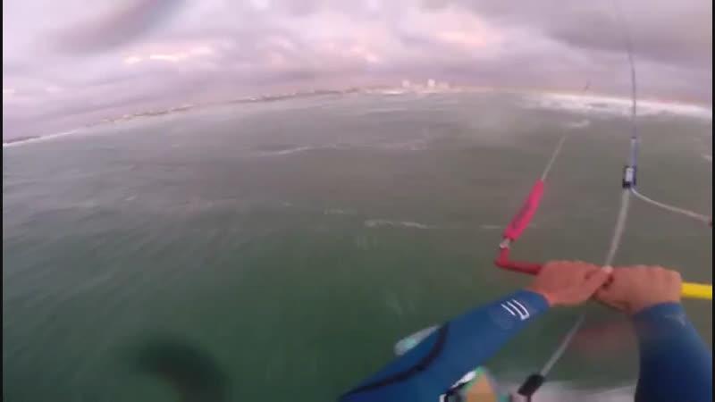 Kitesurfing waves Peniche/Baleal 18.02.19