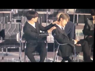 Seokjin really moved his chair sideways so jungkook could give him a massage		im so over jinkook yall i swear lmaonaidbwie