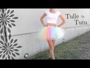 NO SEW TUTU Tulle Skirt How To Halloween Costume DIY SoCraftastic