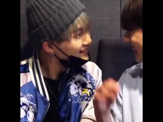 1 minute of jungkook touching yoongi with shooky song playing in the back
