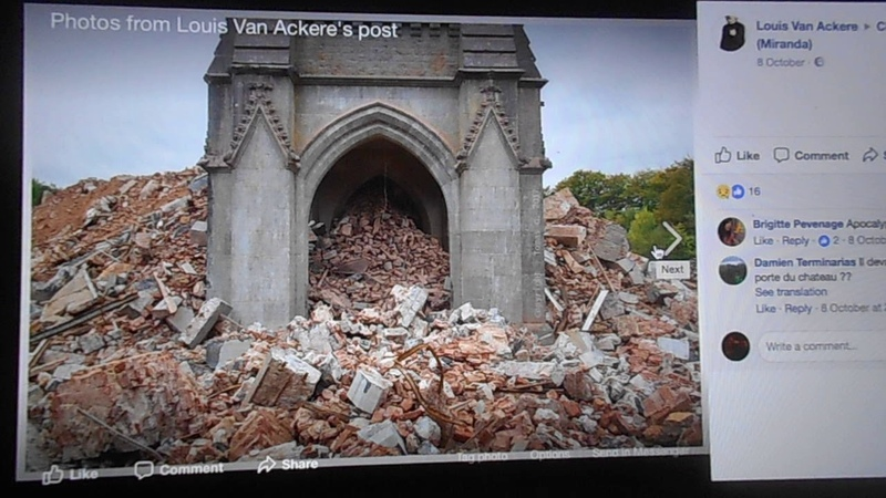Almost nothing left of Chateau De Noisy!