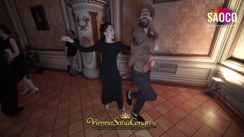 Panagiotis Aglamisis and Marie Cazorla Salsa Dancing at Vienna Salsa Congress 2019 Saturday 07 12 2019