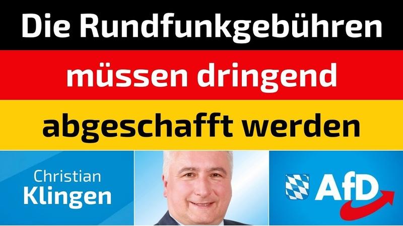 Christian Klingen (AfD) - Die Rundfunkgebühren müssen dringend abgeschafft werden
