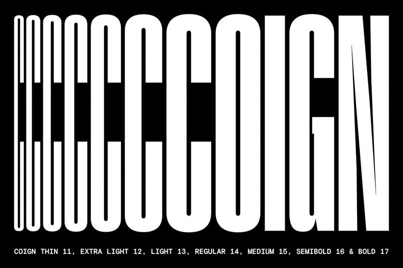 шрифт Coign