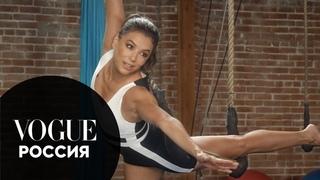 Ева Лонгория занимается цирковыми упражнениями | Vogue Россия