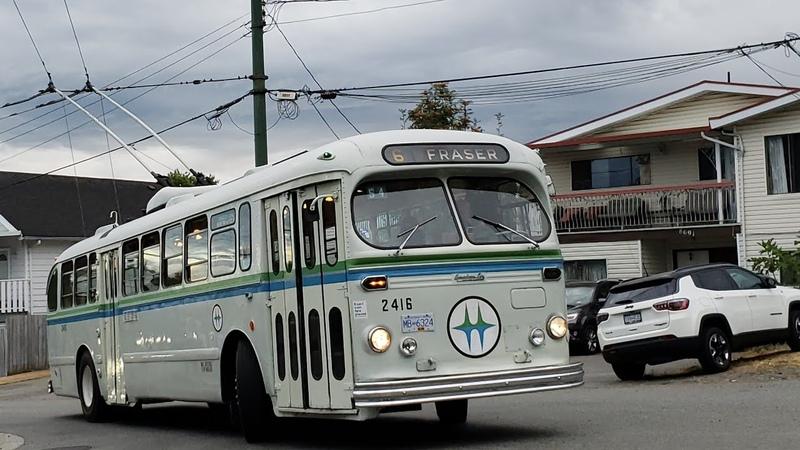 1954 Brill T 48a Trolley bus Trip part 1