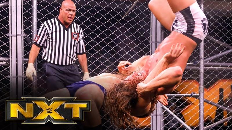 Matt Riddle vs Timothy Thatcher Fight Pit w guest referee Kurt Angle WWE NXT May 27 2020