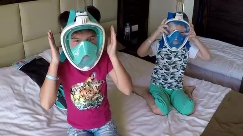 Новая детская маска для подводного плавания полнолицевая маска FREE BRETH Easy