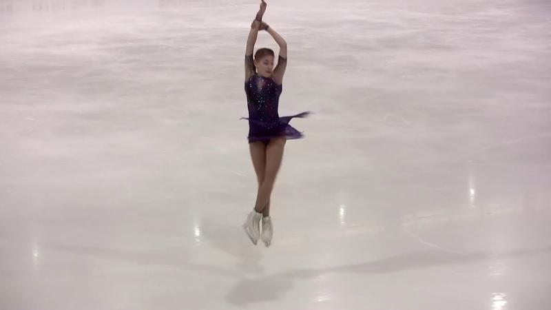 Alena Kostornaia FS - ISU Grand Prix 2019 in Grenoble (Alt. angle) 60p