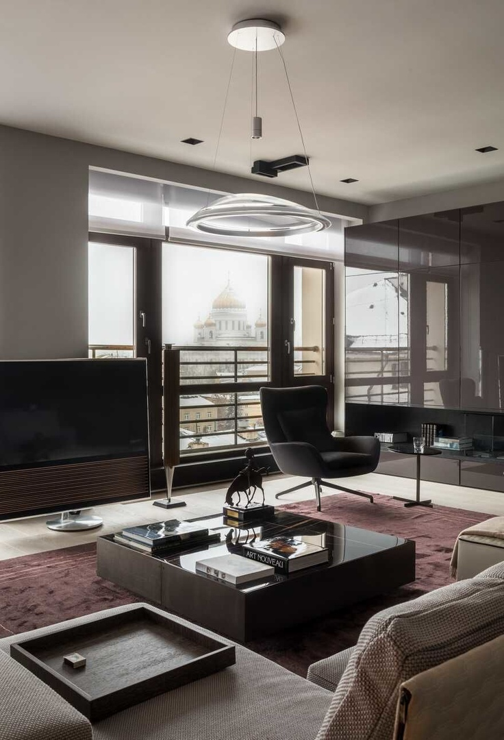 An Arbat Apartment in a Minimalist Aesthetic in the Center of Moscow || 01