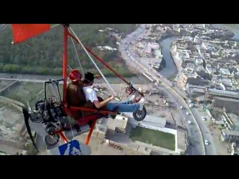 Microlight Trike flying at Peshawar Pakistan! Ultralight Trike