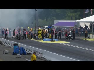 Top fuel harley racer beau layne has wild crash in seattle.mp4