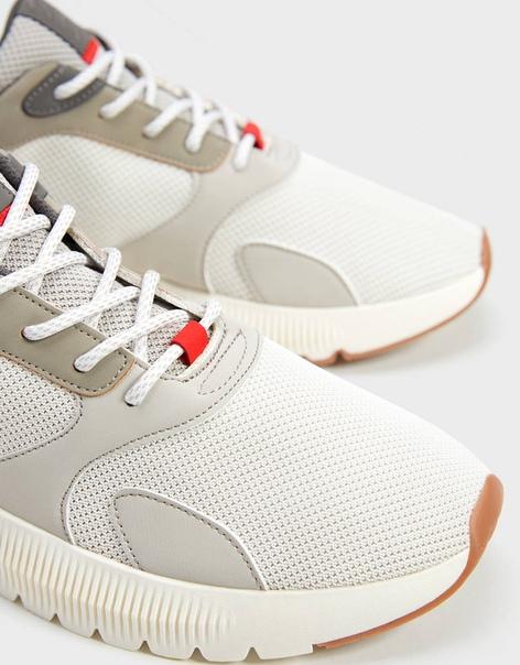 Мужские комбинированные кроссовки из сетчатого материала