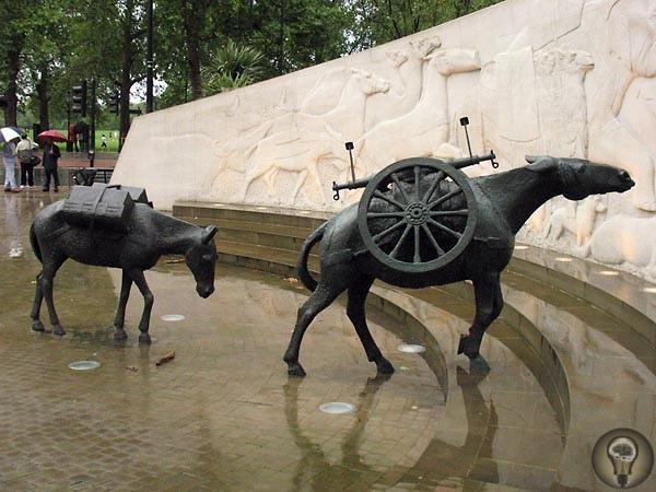 Солдаты наши меньшие За всю историю в войнах участвовали сотни миллионов бессловесных военнослужащихВ 2004 году в Лондоне был открыт мемориал, увековечивший память братьев по оружию, с которыми