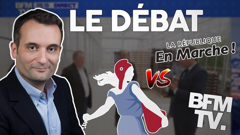 Florian Philippot débat avec un sénateur macroniste sur BFM TV Bigard Labos Avia Frexit
