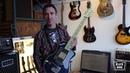 Kurt Cobain's Blue Sparkle Hagstrom Guitar
