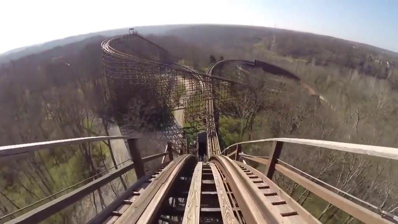Billy corgan rides a rollercoaster