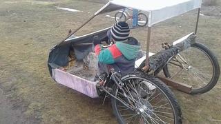 трёхколёсный самодельный велосипед ч2