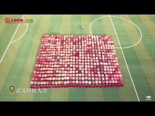 Впечатляющая синхронность: Китайские студенты поздравляют Родину и народ с 70-летием