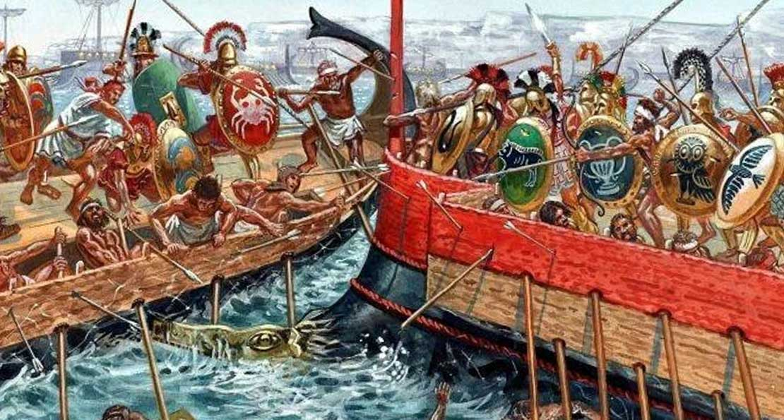 Бой на море