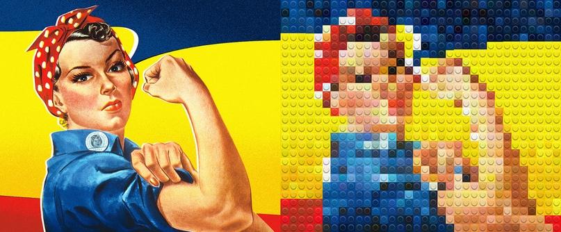 Культовое изображение «Рози Клепальщик» Дж. Говарда Миллера - (50 столбцов)
