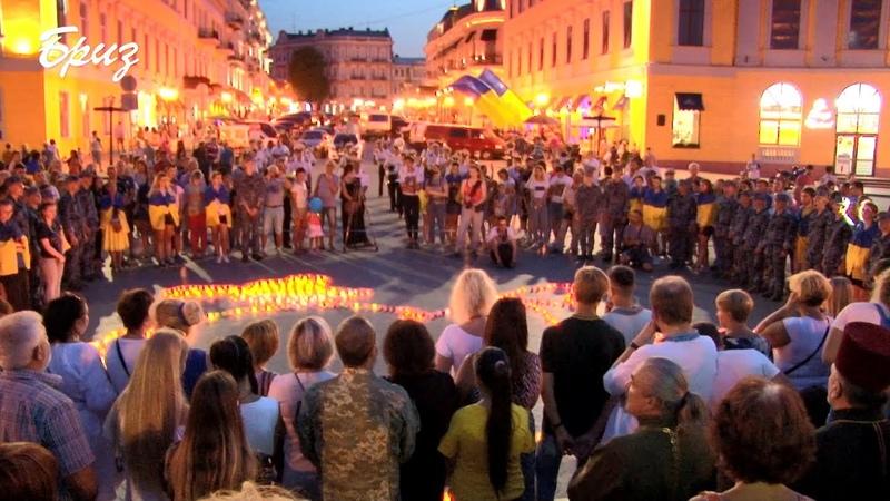 Одесити на честь загиблих за незалежність України створили карту із свічок