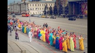 Харинама с ЕС Индрадьюмна Свами в Екатеринбурге  Russia Indradyumna Swami