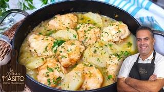 Patatas en salsa verde con rape, guiso de patatas muy facil y rico ¡ES ALGO INCREIBLE!
