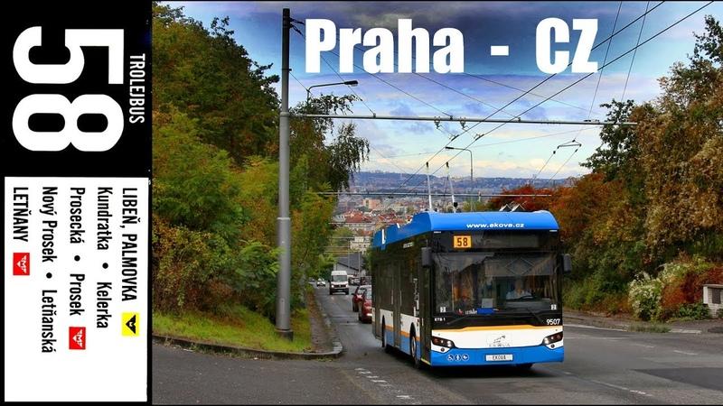 4K PRAHA TROLLEYBUS Ekova Electron 12T 2019