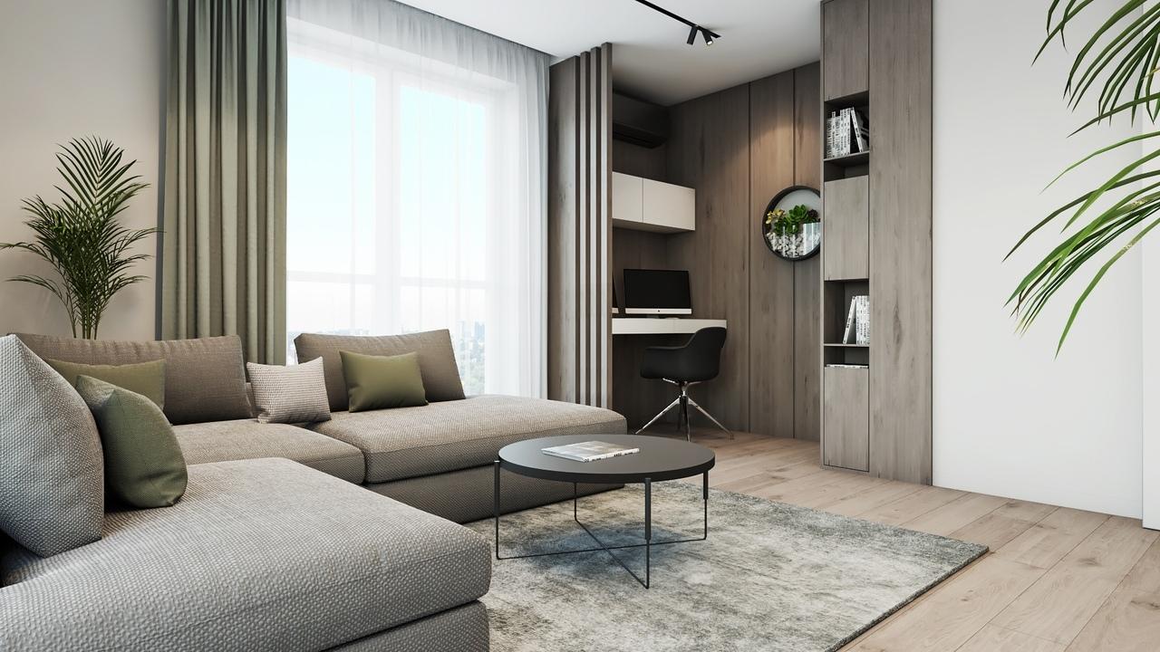 Дизайн интерьера квартиры 72м2.