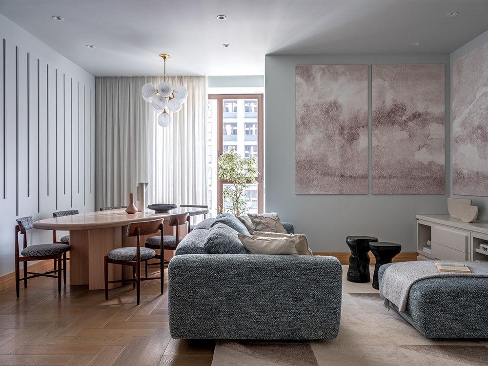 Воздушные замки: светлая квартира в новом доме на Пресне от Марии Микены    01