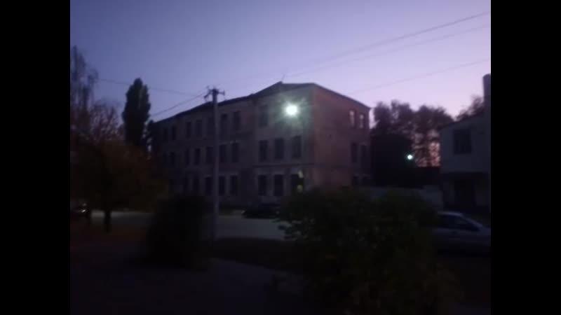 Казарма второго батальона воинской части № 20,115 (Острогожск ул. Комсомольская) осень Вечер