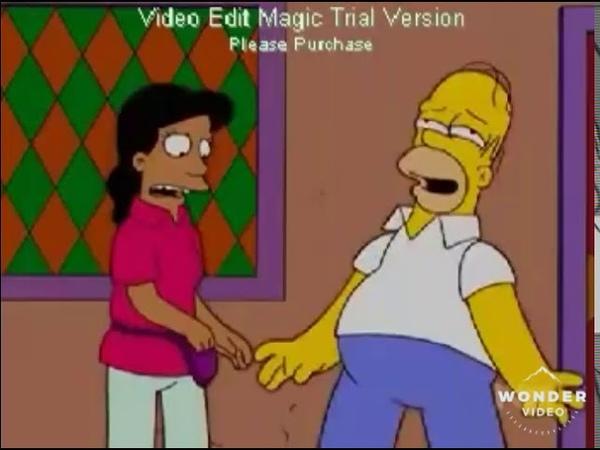 Homero bailando techno