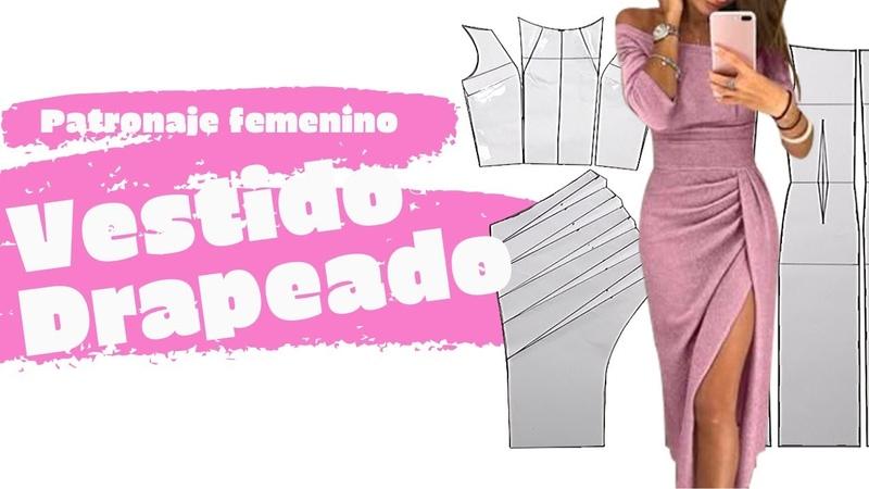Vestido Drapeado/Feller Patronaje**Drawing a Draped Dress**