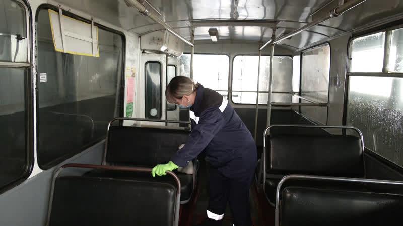 Каждое утро йошкар-олинские троллейбусы проходят дезинфекцию