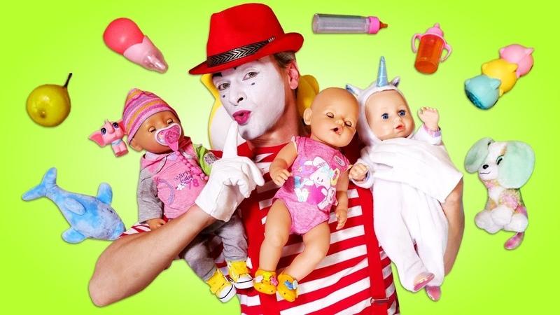 Barbie birden 3 Baby Born bebek baktırıyor Oyuncak bebek ile evcilik oyunu